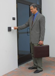 man-with-access-entry-card